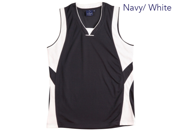 Basketball contrast colour singlet